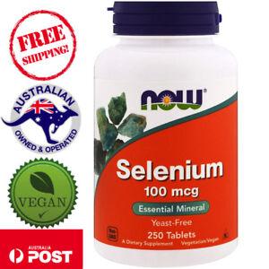 Now-Foods-Selenium-Yeast-Free-100-mcg-250-Tablets-Vegan-Essential-Mineral