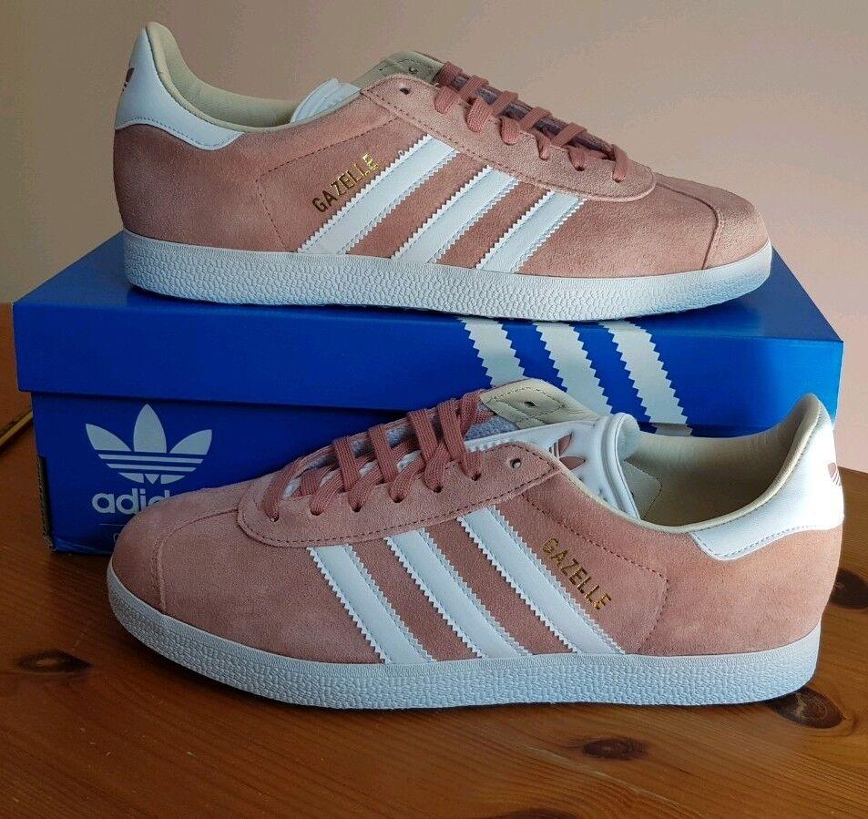 Adidas Originales Para Mujer gacelas ashRosa Talla 5 En (EUR 38) BNWT Nuevo En 5 Caja a12317