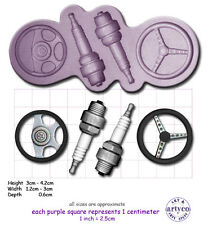 SPARK PLUGS & STEERING WHEELS Craft Sugarcraft Resin Sculpey Silicone Mould