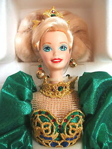 POUPEE BARBIE NEUVE RARE 1995 COLLECTION HOLIDAY JEWEL PORCELAINE 14311