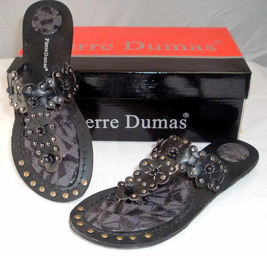 Woman's Black Pierre Sandals traction tread by Pierre Black Dumas