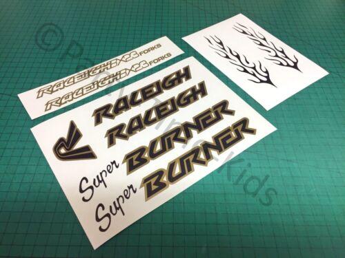 Raleigh Super Burner Old School Bmx frame /& forks decals stickers Vintage bmx