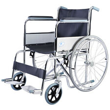 Goplus 24'' Lightweight Foldable Folding Wheelchair w/ Footrest FDA Approved New