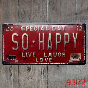 Metal-Tin-Sign-so-happy-Decor-Bar-Pub-Home-Vintage-Retro-Poster-Cafe-ART