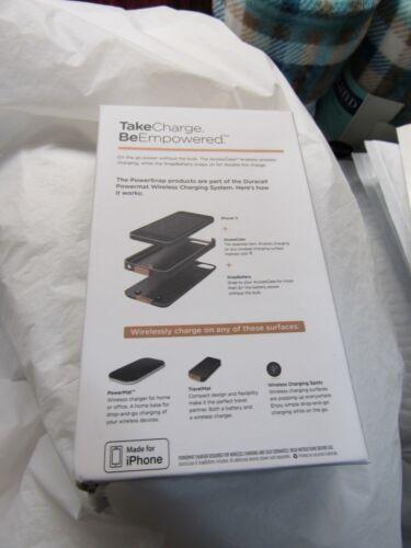 Duracell Powermat PowerSnap Kit Mat iPhone 5,5S,5SE Charging Case Battery Backup