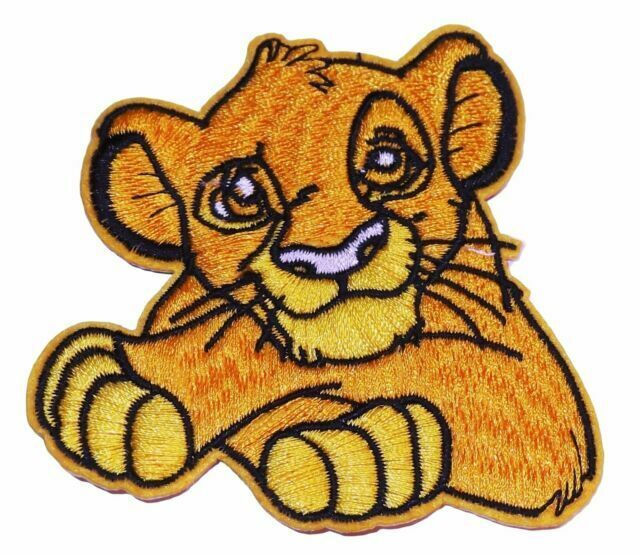 Embroidered Iron On Applique Patch The Lion King Movie Simba