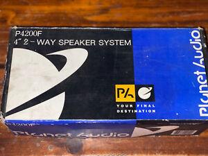 "Planet Audio 4"" 2 Way Speaker System P2400F (Missing 1 Speaker)"