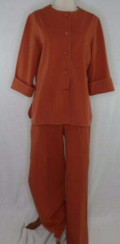 VTG 60s 70s Personal ILGWU Leslie Fay Solid Orange