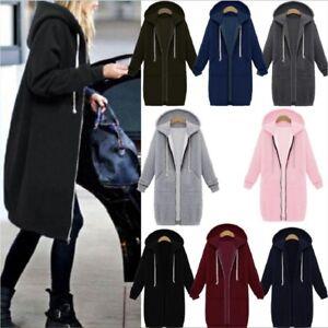 Warm-Winter-Lady-Long-Sleeve-Hooded-Cardigan-Zip-Up-Jacket-Coat-Plus-Size-S-5XL
