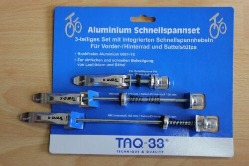 Schnellspannset TAQ-33 Aluminium 3-teilig