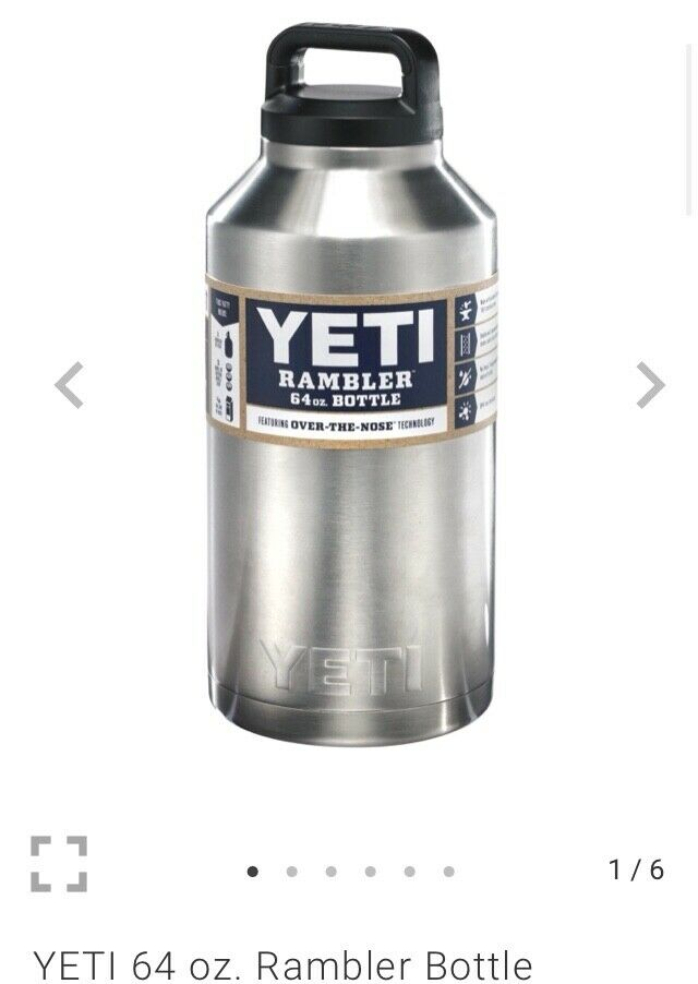 NWT  89.99 Yeti Coolers YRAMB64 Stainless Steel Rambler Bottle with lid 64 Oz