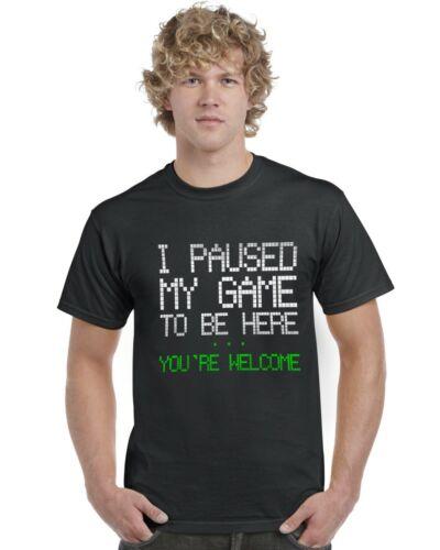 Vous êtes Bienvenue Kids T-Shirt Gamer Gaming Tee Top J/'ai suspendu mon jeu pour être ici..