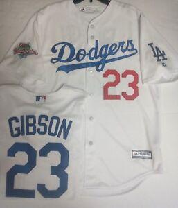 KIRK GIBSON LA DODGERS MENS WHITE COOL BASE JERSEY MAJESTIC PICK ... 5803a9939b7