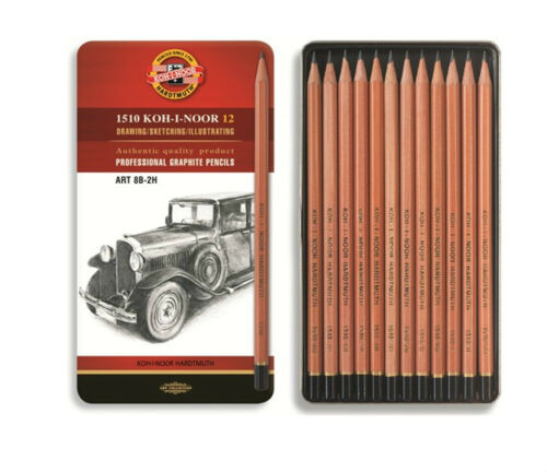 Graphitstifte Bleistifte Set Metallbox Graphic Technic Art 8B 10H Skizzen