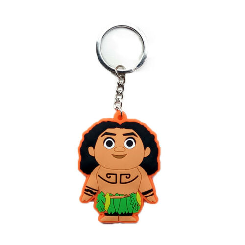 NEW Movie Princess Moana Action Figure Maui Adventure Accessories Key Rings