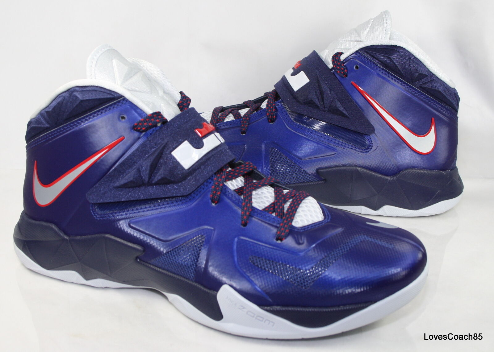 751b729f220 Nike Zoom Soldier VII Size 11 Deep Royal Blue Platinum-Navy-Red 599264-400  599264-400 599264-400 NIB 771a43