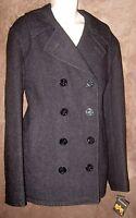 Men's 2xl (46/48) Charcoal Gray Alpha Industries Usn Pea Coat Mjn45032c1 Mil