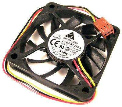 3 Qty Delta EFB0612MA 60mm x 10mm 12v Ball Bearing 3 Pin Fans Mounting Screws