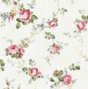 Wallpaper-Designer-Victorian-Floral-Vine-Cottage-Roses-Faux-Crackle-Background