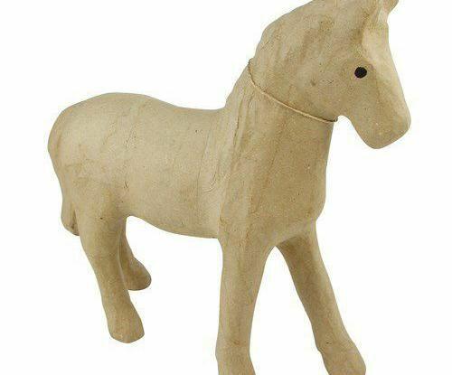 Cardboard Object M Horse 30x10x28cm Décopatch Decoupage Animals Subjects Hobb...