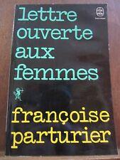 Françoise Parturier: Lettre ouverte aux femmes/ Le Livre de Poche, 1975