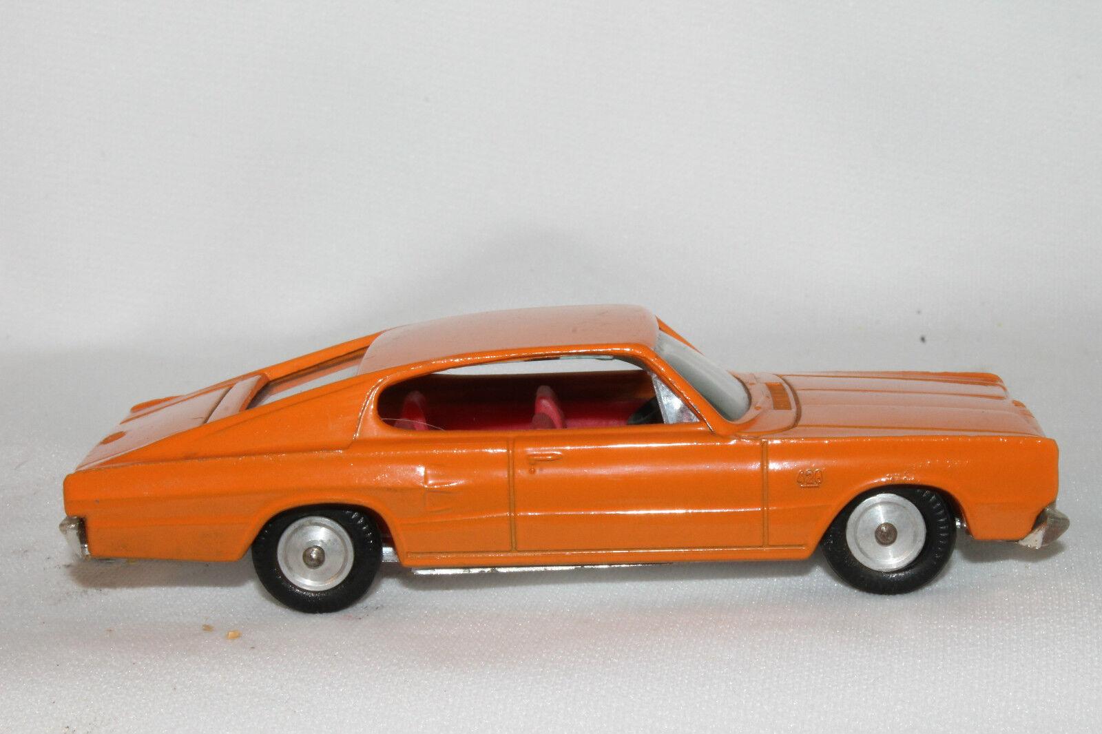 1966 Dodge Charger, Orange, GAMDA KOOR SABRA échelle 1 43, Fabriqué en Israël, Nice