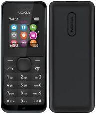 Nuevo En Caja Dual Sim 105-nokia Negro (desbloqueado) teléfono móvil Caja Sellada