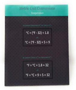 Details About Metric Unit Conversion Temperature 4 X 5 In Wooden Magnet Chart For Fridge
