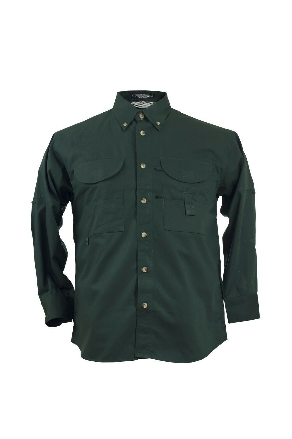 ed1dc740 Tiger Hill Men's Shirt Long Forest Green Fishing Sleeves nofbae964 ...