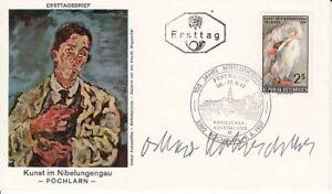 Oskar-KOKOSCHKA-Artist-Signed-First-Day-Cover-Envelope