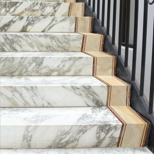 3D Marble Self-adhesive Bathroom Kitchen Wall Stair Floor Border Tile Sticker 2M