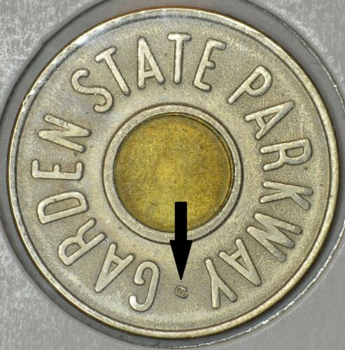 with USA Lot of two Garden State Parkway Car Fare Only tokens without OC mark