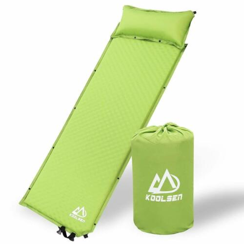 KOOLSEN Self-Inflating Sleeping pad for Backpacking Camping pad with Pillow