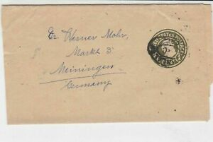 United States old  CAL. cancel to Germany Stamped envelope stamps cover ref21715
