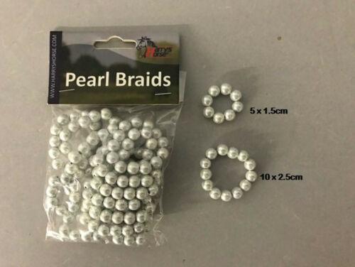 15 pièce contenu Harry/'s Horse crinière anneaux avec imitation perles PEARL Braids 1 sachets