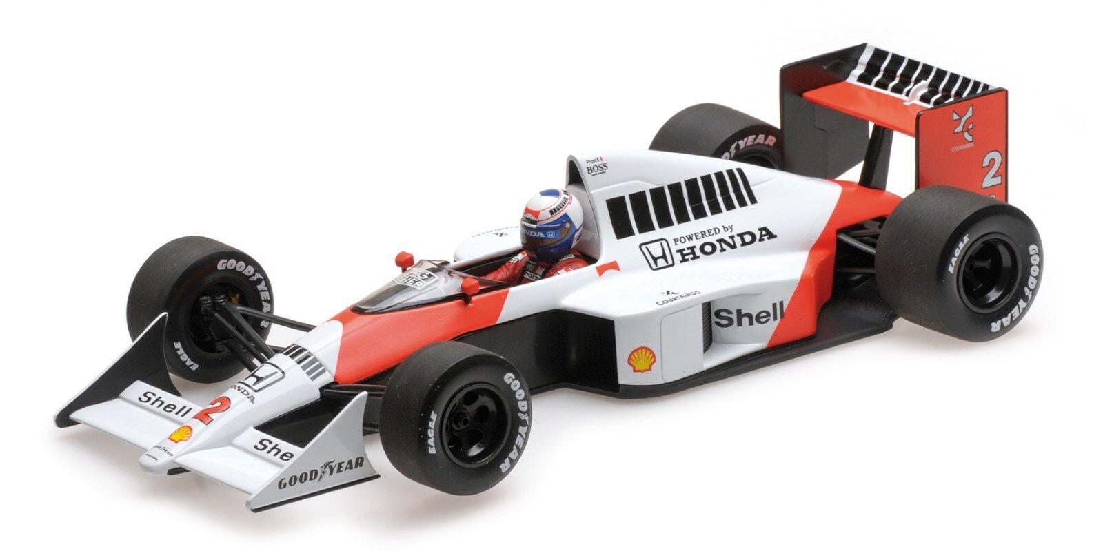 McLaren mp4/5 A. PROST WORLD CHAMPION Weltmeister modello 1989 530891802 1/18 NUOVO