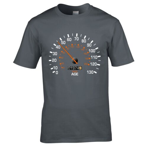 Funny Feels Age Year Present Mens Gift Speedometer 1974 Birthday T-Shirt