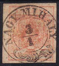 Austria 1850 3kr, MP, Type III. well margins. NAGY MIHÁLY cancellation.