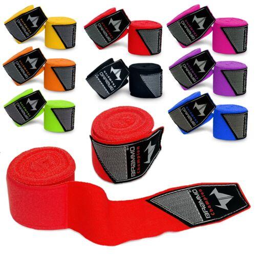 BRAMMO ® BOXING HAND WRAPS con elastico interno Guanti MMA Muay KICKBOXING BENDE