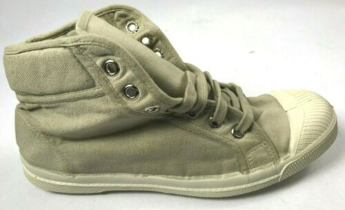 ***NEW***Bensimon Canvas Hi-Top Tennis  Shoes Beige U.S.7 /& 6.