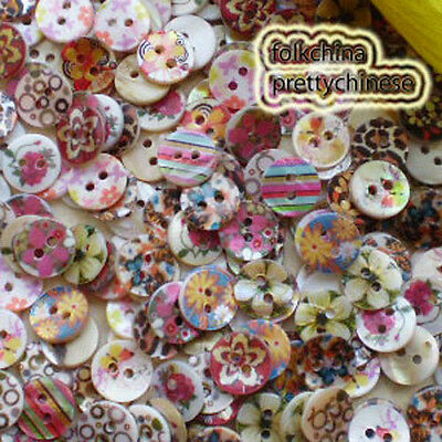 Assorted 11mm Mother Of Shell Buttons Sewing Scrapbooking Beads Craft SCP
