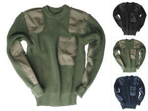 tec Bundeswehr 60 48 Tasca Pullover Pullover petto sul Bundeswehr Bw poliacrilico M Mil Aq1wCSUx1