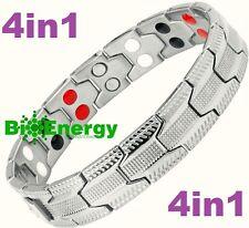 TITANIO Pulsera de alimentación de energía magnética germanio brazalete salud 4in1 Bio