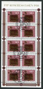 Bund-KB-1065-gestempelt-ESST-Essen-Kleinbogen-Tag-der-Briefmarke-BRD-1980-used