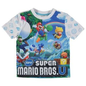 England-Nintendo-Super-Mario-Children-T-Shirt-Shirt-Size-92-164