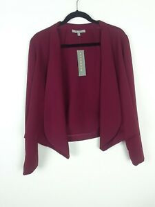 NY Collection NWT Open Front Stretch Crop Jacket Blazer, Women's Size Medium