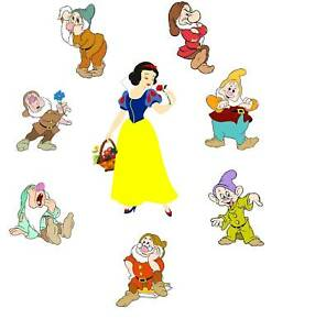Details about Snow White seven dwarfs 8x10 T-shirt Iron on transfer
