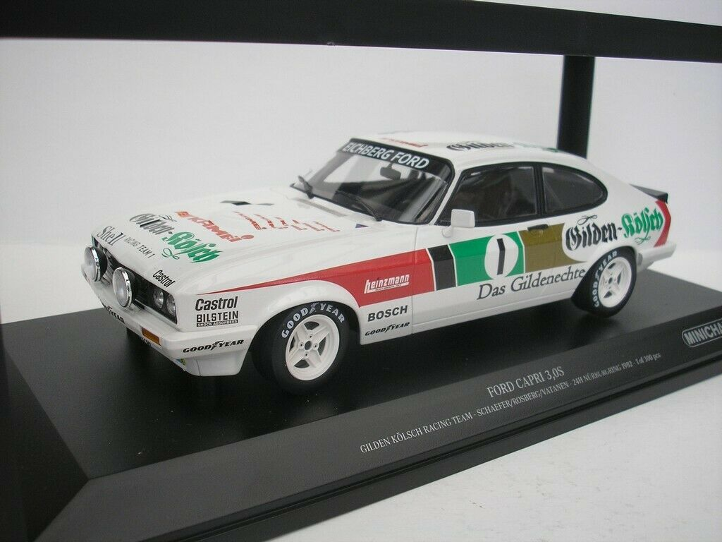 FORD Capri 3.0 S  1 24h NURBURGRING 1982 Schaefer 1 18 Minichamps 155828601 NUOVO