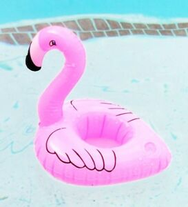 Image Is Loading Cute Inflatable Flamingo Cup Holders Keep Your Drinks