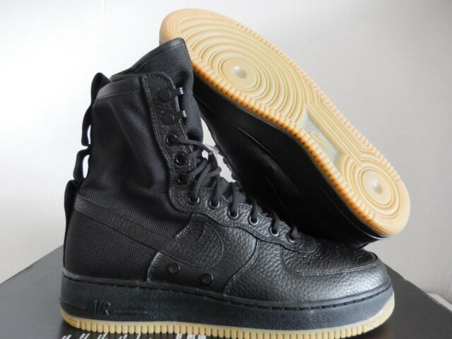 the latest e301e 70cb4 Nike Air Force 1 Special Field SF Af1 Triple Black Gum Sole Sz 13